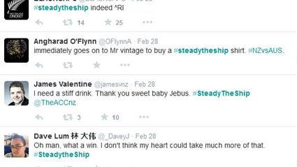 NZ Reacts To The #SteadyTheShip Williamson Match Winning Moment
