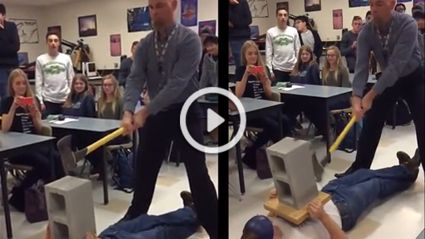 Physics Experiment With An Axe Goes About As Wrong As It Can!