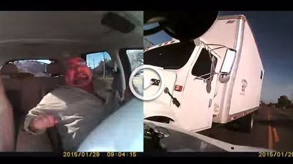 Insane Dashcam Footage Of A Double Ended Car Crash
