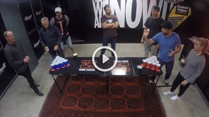 KiwiPong Challenge: Hauraki Breakfast Vs The Crowd Goes Wild Breakfast