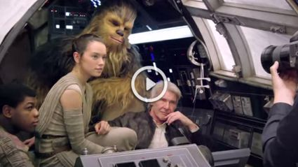 Footage From On The Set Of 'Star Wars: The Force Awakens'
