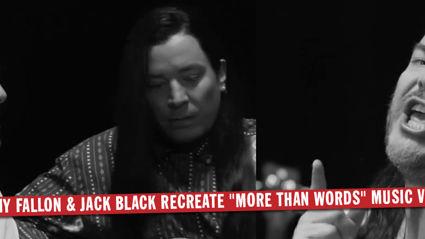 "Jimmy Fallon & Jack Black Recreate ""More Than Words"" Music Video"
