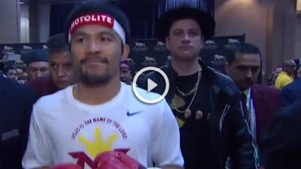 Jimmy Kimmel Talks About Being Part Of Manny Pacquiao's Entourage