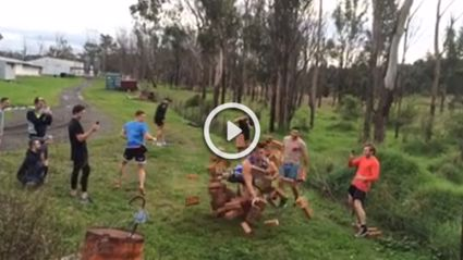 League Player Runs Into Wall Of Bricks For NRL Rookie Contract