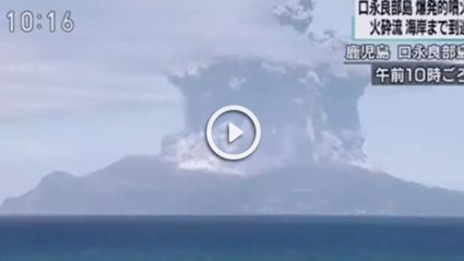 Massive Volcano Erupts On Japanese Island Prompting Evacuations
