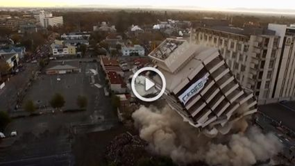 Footage Of Christchurch Police Station Demolition