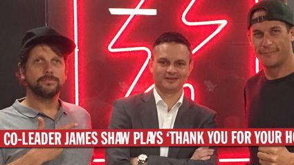 Greens Co-Leader James Shaw Plays 'Thank You For Honesty'
