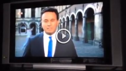 Guy Runs From His House To Try And Make It On TV Live Cross