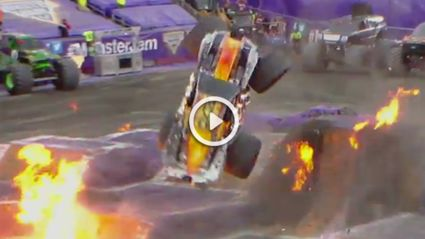 Watch A Monster Truck Pull Off A DOUBLE BACKFLIP
