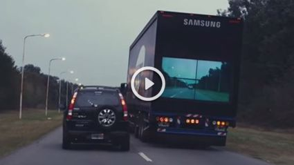 Samsung Are Developing A Truck With TV On The Back To Improve Road Safety