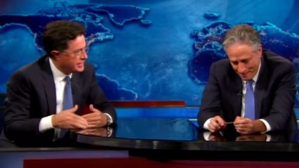 Stephen Colbert Gives Fantastic Goodbye Thank You To Jon Stewart