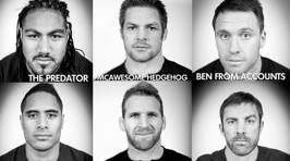 The Hauraki Breakfast All Blacks Official Nick-Names World Cup Squad