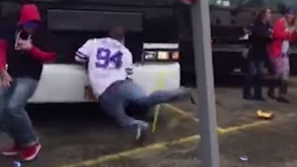 Dizzy Bat Goes Spectacularly Wrong For Drunk NFL Fan