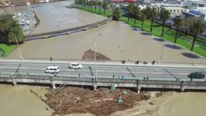 Incredible Drone Footage Of The Gisborne Flooding
