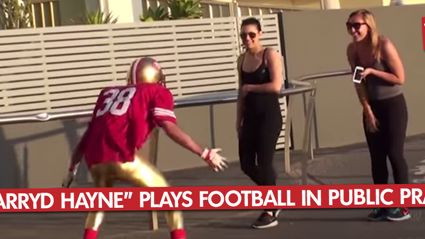 """Jarryd Hayne"" Plays Football In Public"