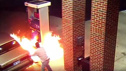 Man Sets Gas Station On Fire Trying To Kill A Spider