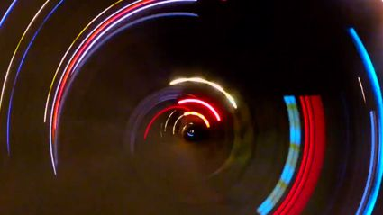 What Happens When You Put A GoPro On A Car Wheel At Night
