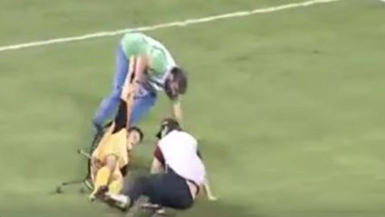 Injured Greece Football Player Dropped While Being Stretchered Off