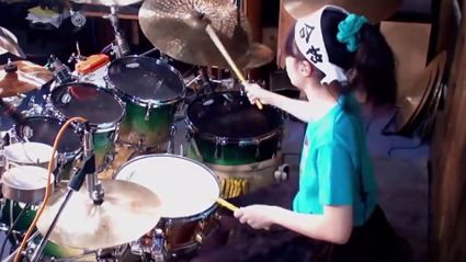 15 year Old Girl Is A BEAST On The Drums!