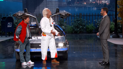 Doc Brown And Marty McFly Crash Jimmy Kimmel's Live TV Show