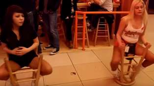 Hooter Girls Spinning Chair Trick