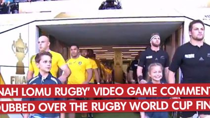 'Jonah Lomu Rugby' Video Game Commentary Dubbed Over The Rugby World Cup Final