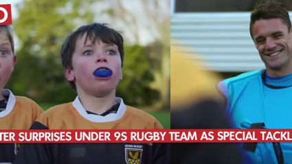 Dan Carter Surprises Under 9s Rugby Team As Special Tackling Bag
