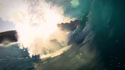 Crash Of The Day - Bodyboarder Slammed In Barrel Wave