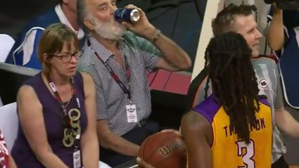 Aussie Punisher Pours Beer On NBL Player, Gets Kicked Out