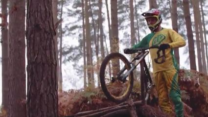 BMX Racing Down Foggy Hills Of England
