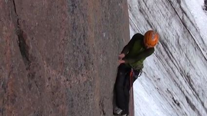 Climber Tests Out Safety Gear With Huge Fall