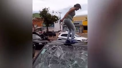 Pregnant Wife Smashes Cheating Husband's Car After Discovering Affair