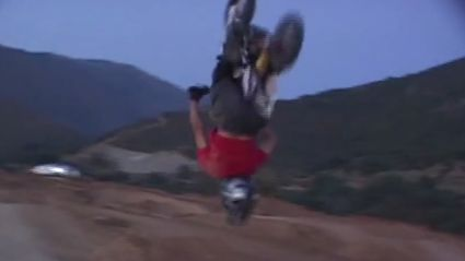 Motorcross Backflip Fail On $20 Ramp