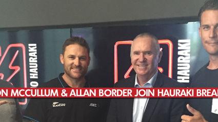 Hauraki Breakfast Interviews Brendon McCullum & Allan Border