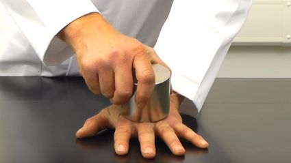 Watch Two Super Strong Magnets Crush This Guy's Prosthetic Hand!