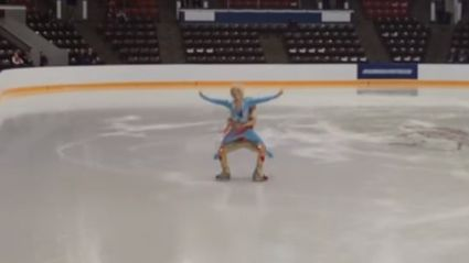 Figure Skating Duo Recreates 'Blades Of Glory' Routine