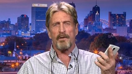 John McAfee Reveals How To Hack The iPhone On Live TV