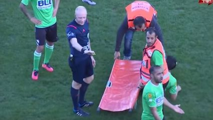 Medics Drop Injured Football Player Trying To Stretcher Him Of Field In Israeli