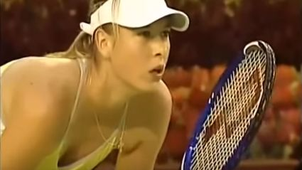 """Footage Of Crowd Laughing At Maria Sharapova And Guy Shouting """"Shut Up"""""""