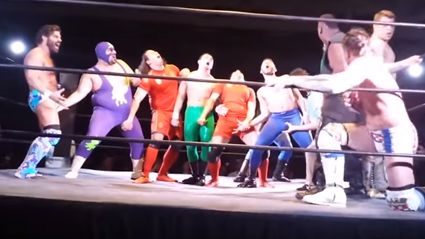 "Joey Ryan Eliminates 11 Wrestlers With His ""Penis Finishing Move"""