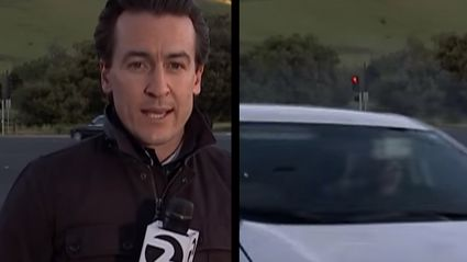 Reporter Narrowly Escapes Being Crushed By Car On Live TV