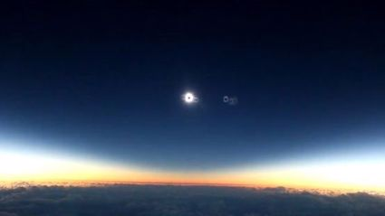 Amazing Video From Plane Of Eclipse
