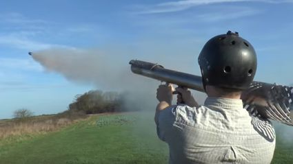 Someone Built A Firework Rocket Launcher