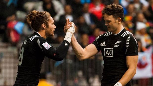 New Zealand player strips off to celebrate Rugby Sevens