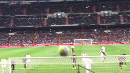 POV Footage Of A Fan Getting Nailed By A Ronaldo Penalty Kick