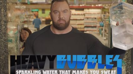 """The Mountain"" From 'Game of Thrones' Weird Water Ad"