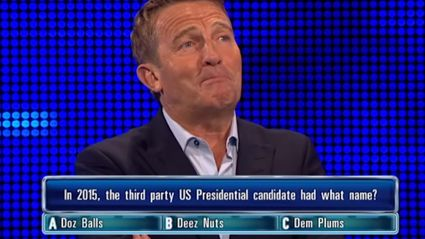 """The Chase Host Loses It Over """"Deez Nuts"""" Question"""