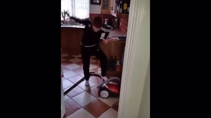 Irish Dad Trolls His Son On How To Turn On The Vacuum Cleaner