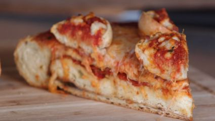 Pizza Stuffed Pizza... With Pizzas On Top