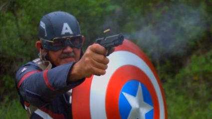 Old Guy Builds Real Life Captain America Shield And Shoots It With A Gun